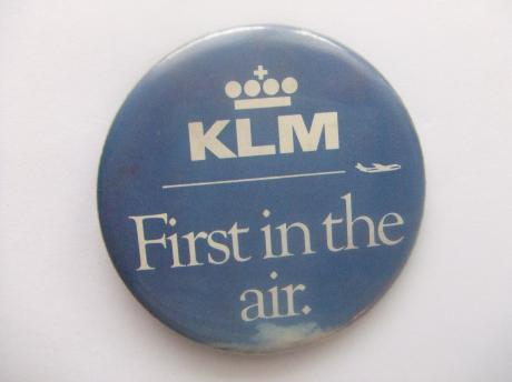 KLM logo first in the air