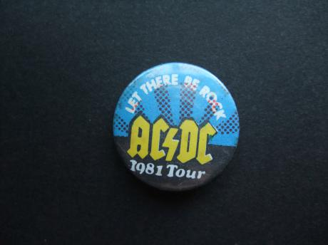 ACDC Australische hardrockband 1981 tour Let there be rock