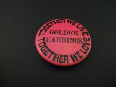 Golden Earrings Nederlandse rockband.Together we live, Together we love.(Leden Barry Hay, George Kooymans, Cesar Zuiderwijk)