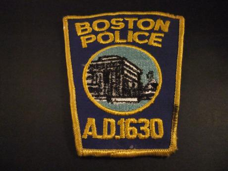 Boston Police Department A.D. 1630 badge