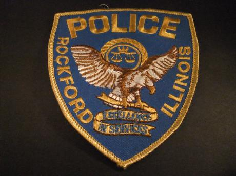 Police Rockford Illinois Excellence In Services , badge