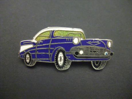 Chevrolet Bel Air 1957 blauw,paars model