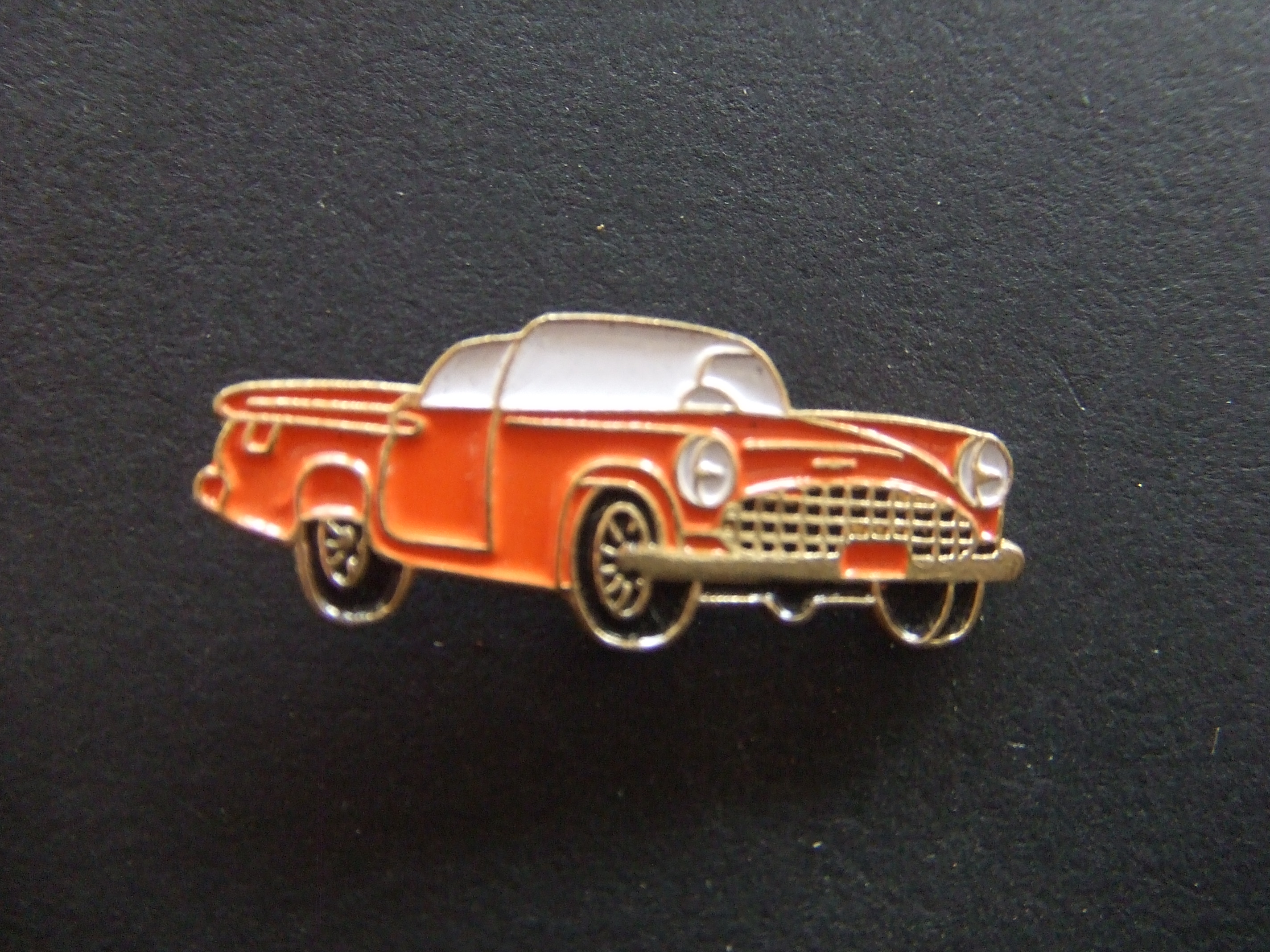 Chevrolet Bel Air Convertible 1955 oldtimer oranje