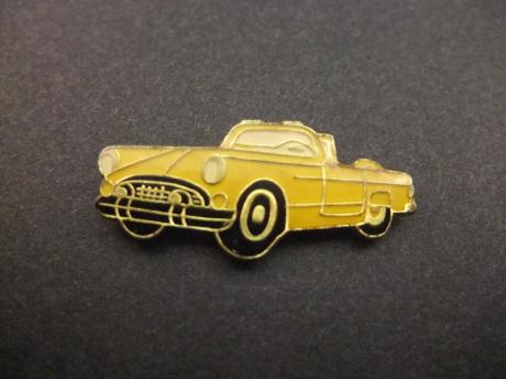 Ford Thunderbird 1955 Convertible geel model