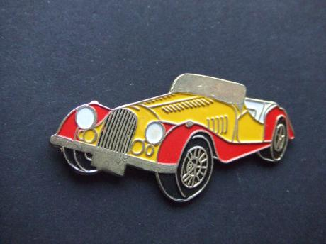 Morgan Engelse auto oldtimer rood geel model