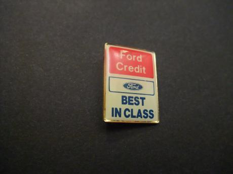 Ford Credit Best in Class