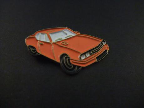 Ford Mustang III ( Fox-body Mustang ) oranje
