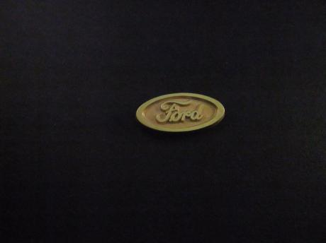 Ford logo ovaal model goudkleurig