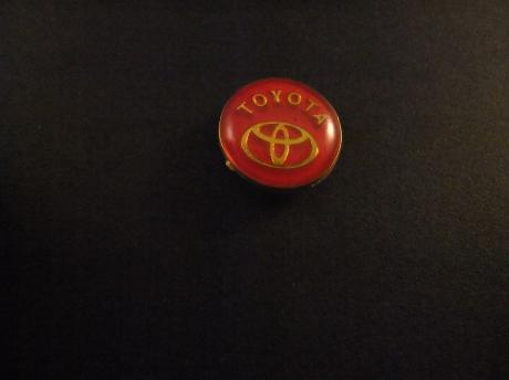 Toyota logo rond model rood
