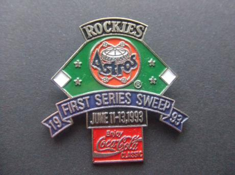 Coca Cola Baseball Houston Astros Texas first Series Sweep