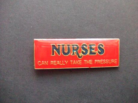 Nurses can really take the pressure verpleging