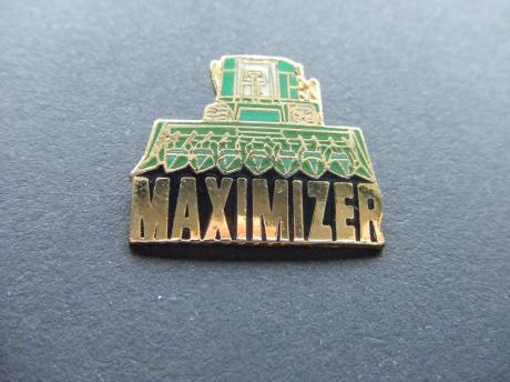 Maximizer combines John Deere  tractor emaille pin