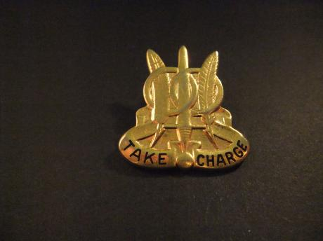 Take Charge,(97th Military Police Battalion Unit Crest )Militaire Politie Bataljon van het Amerikaanse leger,