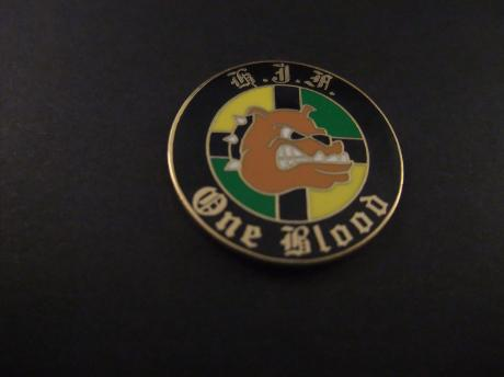 ADO Den Haag voetbalclub One Blood supporters logo