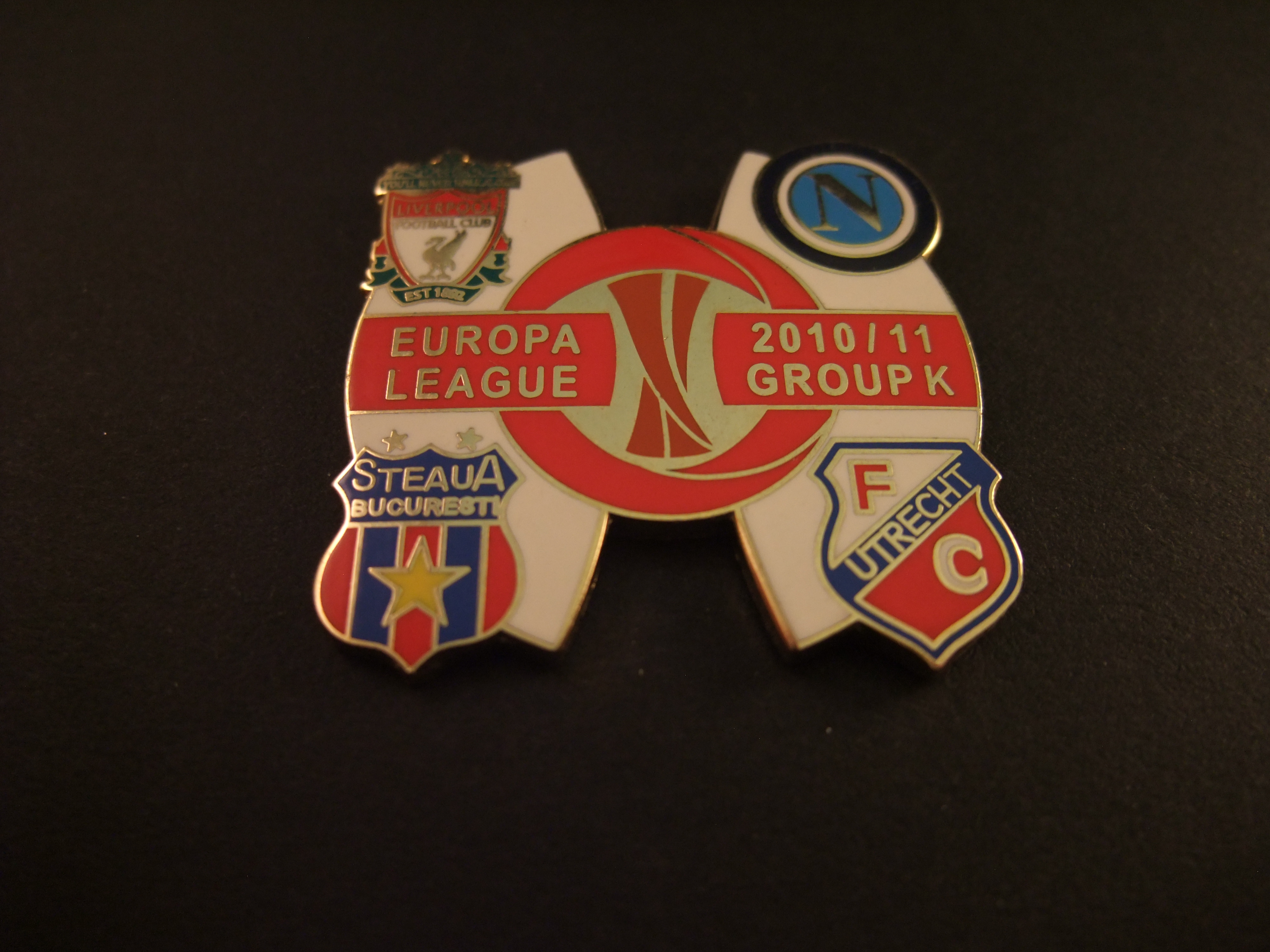Europa League 2010-2011 Group K met Fc Utrecht , Liverpool, Steaua Boekarest,en Napoli